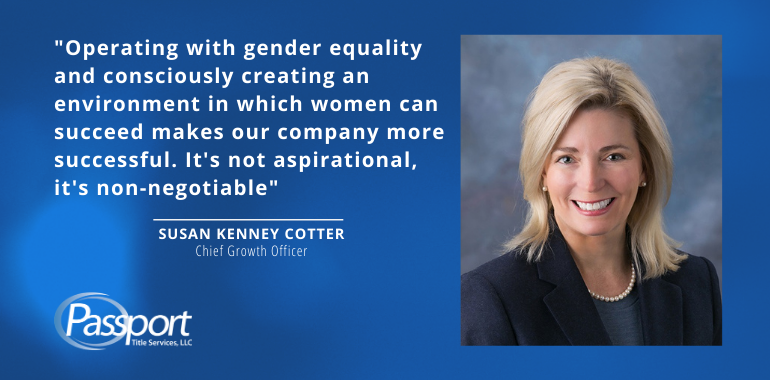 Quote from Susan Kenney Cotter, Passport Title Chief Growth Officer